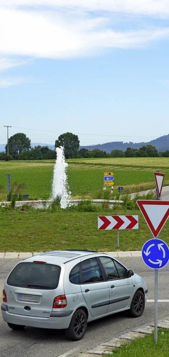 Kreisverkehr VIII Richtung Biengen  | Foto: Sebastian Krüger