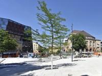Platz der Alten Synagoge Anfang August fertig