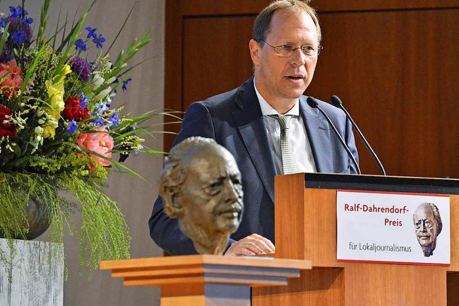 Thomas Fricker, Chefredakteur der Badischen Zeitung. (Foto: Michael Bamberger)