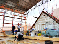 Marode Holzbalken auf Dach des Augustinermuseums behindern Bauarbeiten