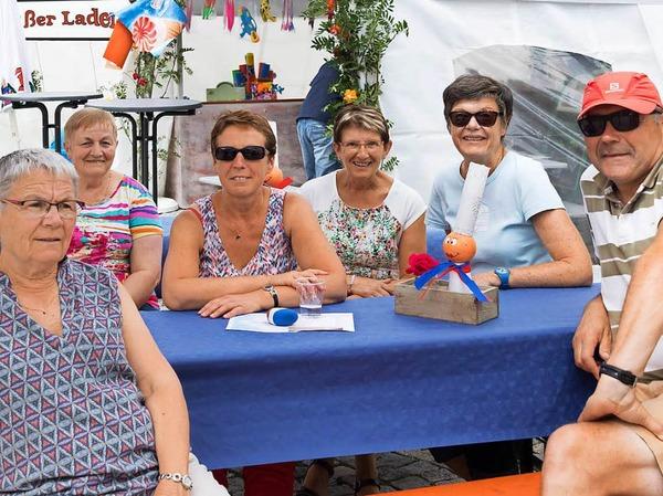 Freunde aus der Partnergemeinde Combrit waren beim Dorffest mit dabei.
