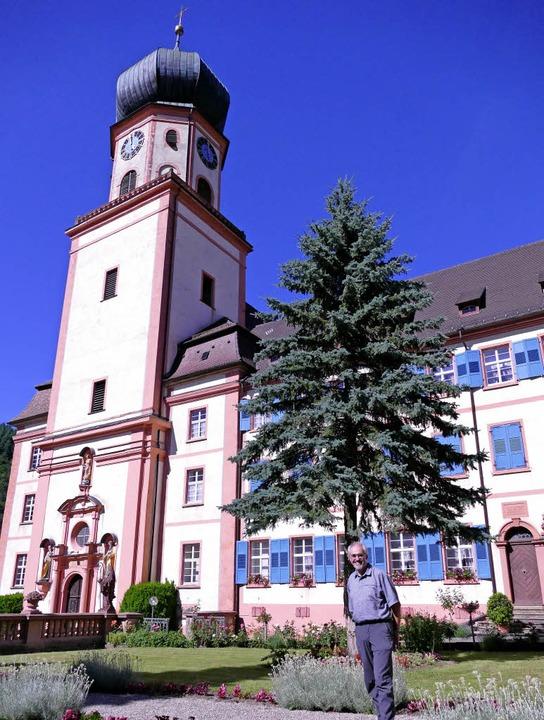 Im Garten des Klosters St. Trudpert fi...tatt, den Thomas Coch mitorganisiert.     Foto: Barbara Schmidt