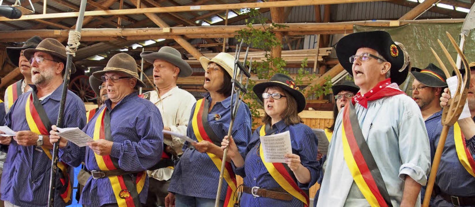 Die Heckersänger aus Schopfheim waren auch mit von der Partie.   | Foto: Boris Burkhardt