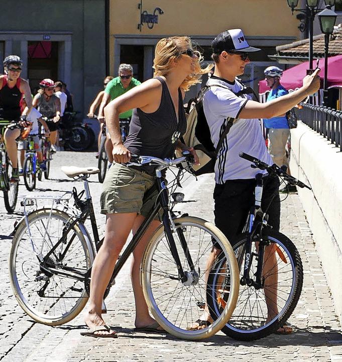 Sonnig war der Slow-up-Sonntag und lockte alle Altersklassen aufs Rad.  | Foto: David Rutschmann