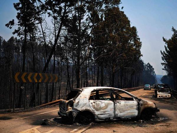 Bei einem der schlimmsten Waldbrände in Portugals Geschichte ist die Zahl der Toten auf 62 gestiegen. Das teilte in der Nacht zu Montag die für öffentliche Sicherheit zuständige Ministerin Constança Urbano de Sousa vor Ort mit.