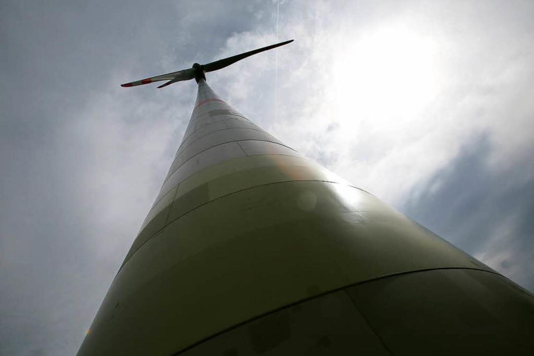 Das Windrad am Kambacher Eck mit einer Nabenhöhe von knapp 150 Metern.   | Foto: Ch. Breithaupt