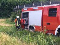 Stromausfall und Geländebrand in Waldkirch
