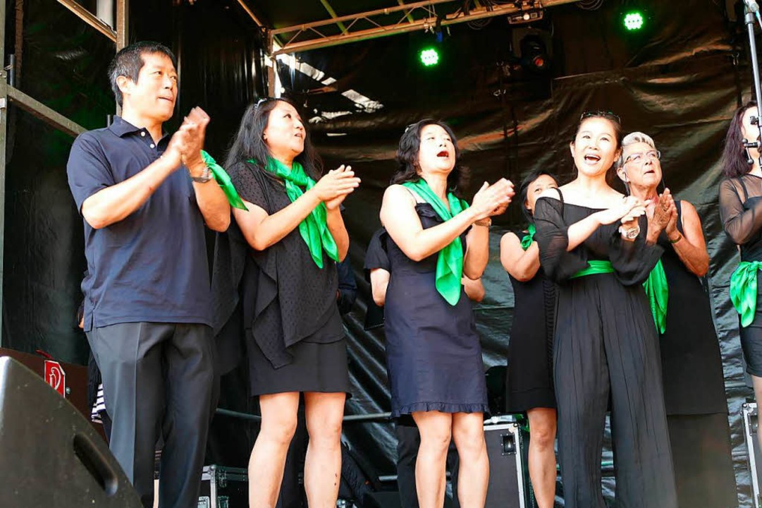 Der China-Chor Basel begeisterte  | Foto: Markus Maier