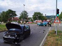 Vier Verletzte bei Kollision auf der B 317 in Lörrach