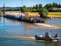 Flussfahrt mit radioaktiver Fracht ist gestartet