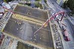 Fotos: So wurde über Nacht Freiburgs neue Kronenbrücke betoniert