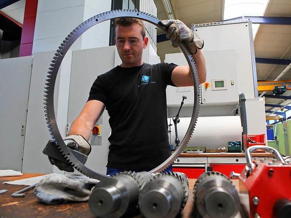 Bei Zahnrad.com werden Zahnräder und Edelstahlwolle produziert. Außerdem gibt es eines der modernsten Messzentren Südbadens.