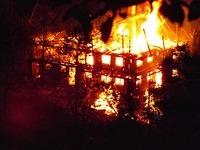 Altes Bauernhaus im Glottertal nach Blitzeinschlag abgebrannt
