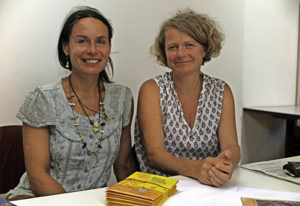 Coralie Engler (links) und Lilly Nocke...aßnahmen für den Umweltschutz bewegen.  | Foto: Dorothee Philipp