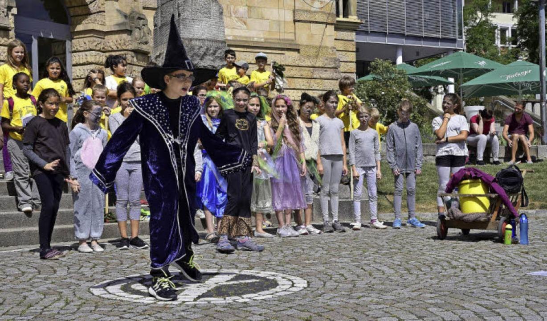 Dritt- und Viertklässler der Hebel-Schule waren in der Innenstadt ...