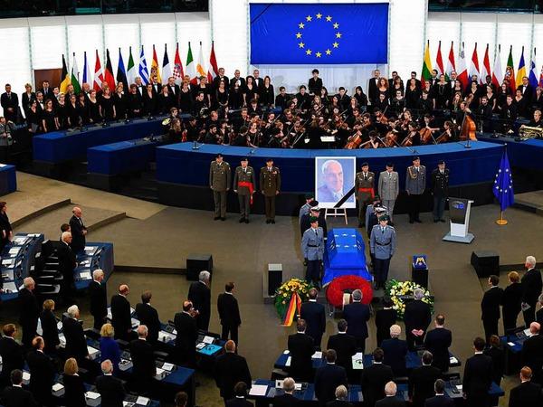 Trauerfeierlichkeiten für Altkanzler Helmut Kohl in Straßburg