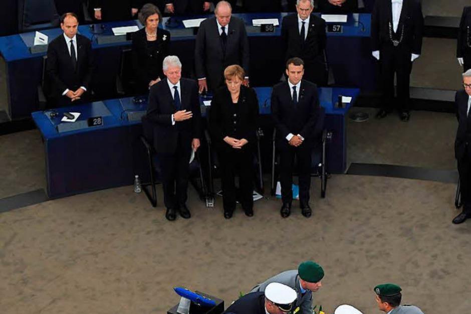 Trauerfeierlichkeiten für Altkanzler Helmut Kohl in Straßburg (Foto: AFP)