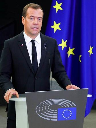 Der russische Ministerpräsident Dmitri Medwedew