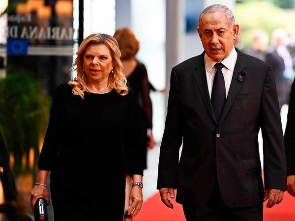 Israels Ministerpräsident Benjamin Netanjahu und seine Frau Sara