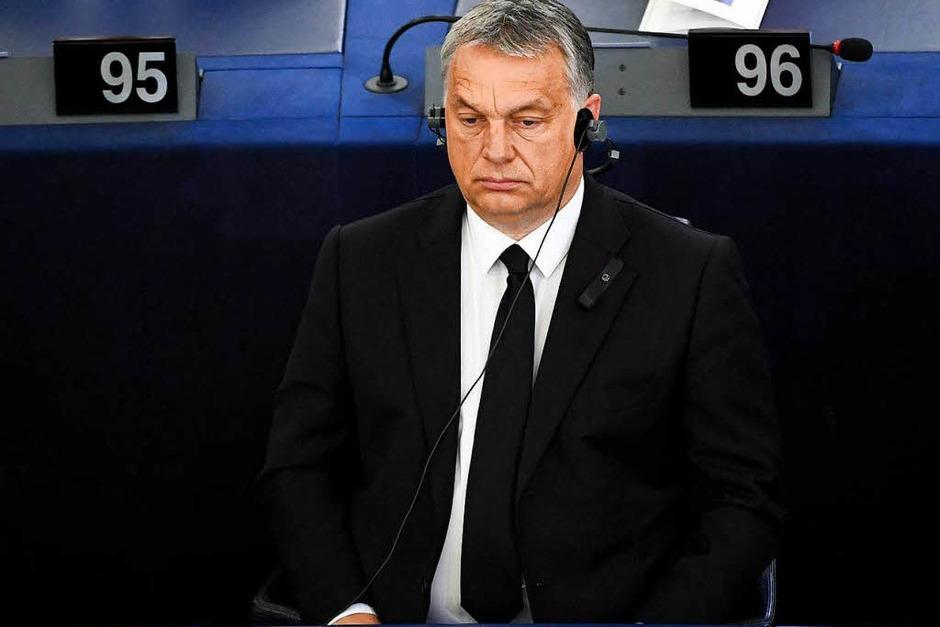 Ungarns Ministerpräsident Viktor Orban ist ein Freund der Familie Kohl. (Foto: dpa)