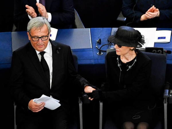 EU-Kommissionspräsident Jean-Claude Juncker und Maike Kohl-Richter