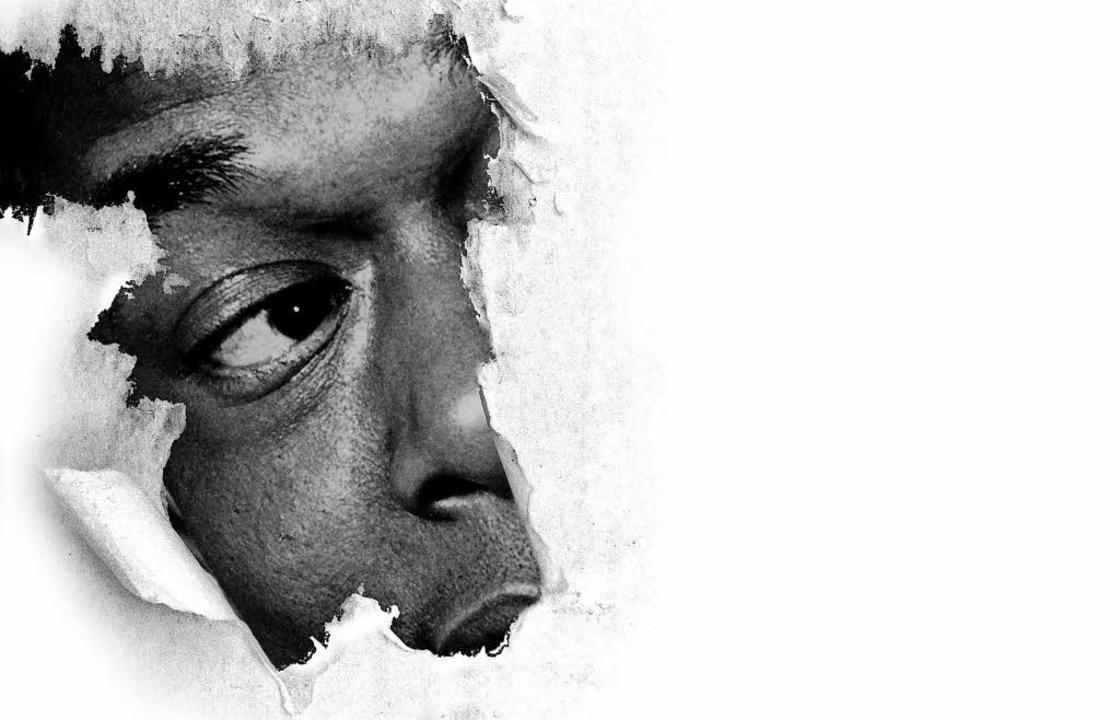 Deutlich sichtbar: ein schwarzes Gesicht in einer weißen Umgebung     Foto: ISD