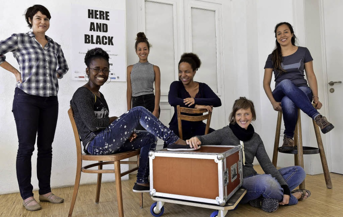 """Das Team von  """"Here and Black&#8...ne Hinestroza (von links nach rechts).    Foto: Thomas Kunz"""