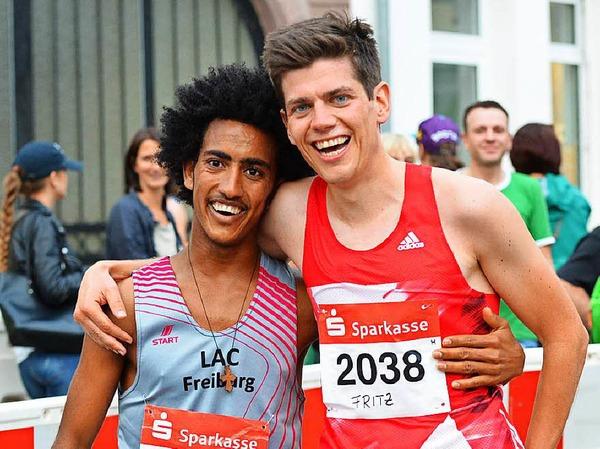 Eindrücke vom 9. Stadtlauf in Emmendingen. Den Hauptlauf über zehn Kilometer gewannen Fritz Koch aus Freiburg und Anja Röttinger aus Sexau (LAC Freiburg).