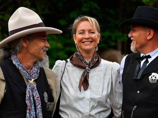 Western Tage in Schluchsee. Es sind viele gute alte Freunde, die einfach nur Spaß haben wollen - und das mit Stil.
