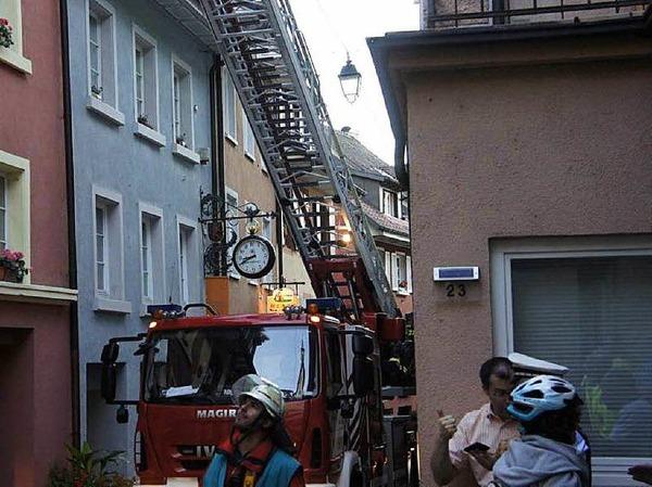 Gut gemeistert haben die Feuerwehrleute von Laufenburg/Baden und Laufenburg/Schweiz ihre Aufgaben bei der Gemeinschaftsübung.