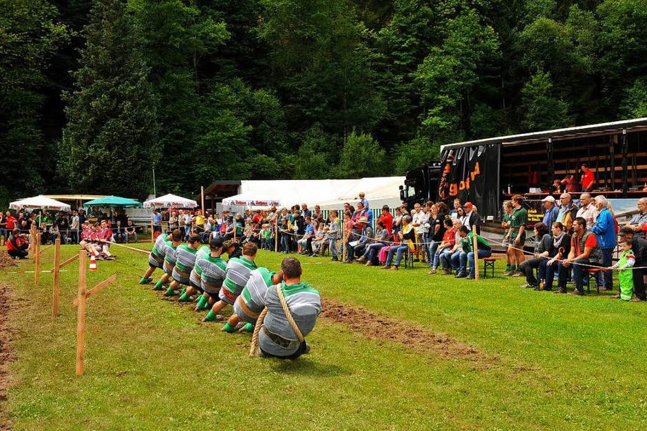Spannende Begegnungen, gute Stimmung beim Tauzieh-Wochenende in Obersimonswald (Foto: Horst Dauenhauer)