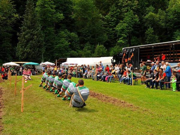 Spannende Begegnungen, gute Stimmung beim Tauzieh-Wochenende in Obersimonswald