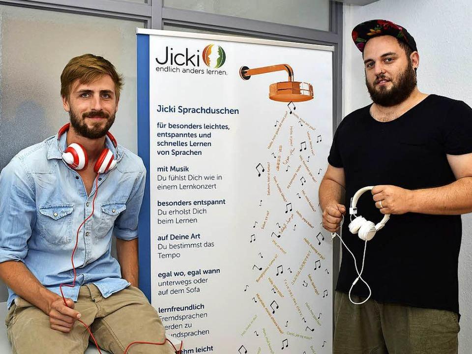 Helge Straube (links) und Jonas Al-Nemri    Foto: Thomas Kunz