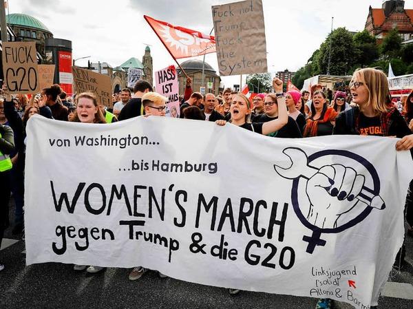 Der Women's March gegen G-20