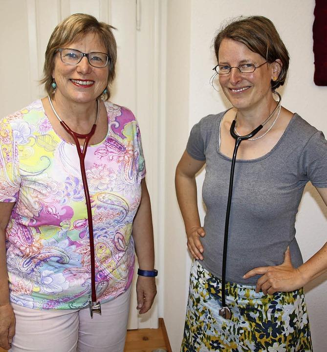 Dr. Ursula Gschwind-Rupprecht   und Dr. Isabelle Bauer (rechts).   | Foto: pei