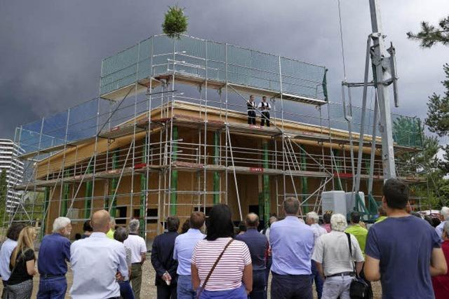 Haus am See: Rohbau steht nach drei Monaten