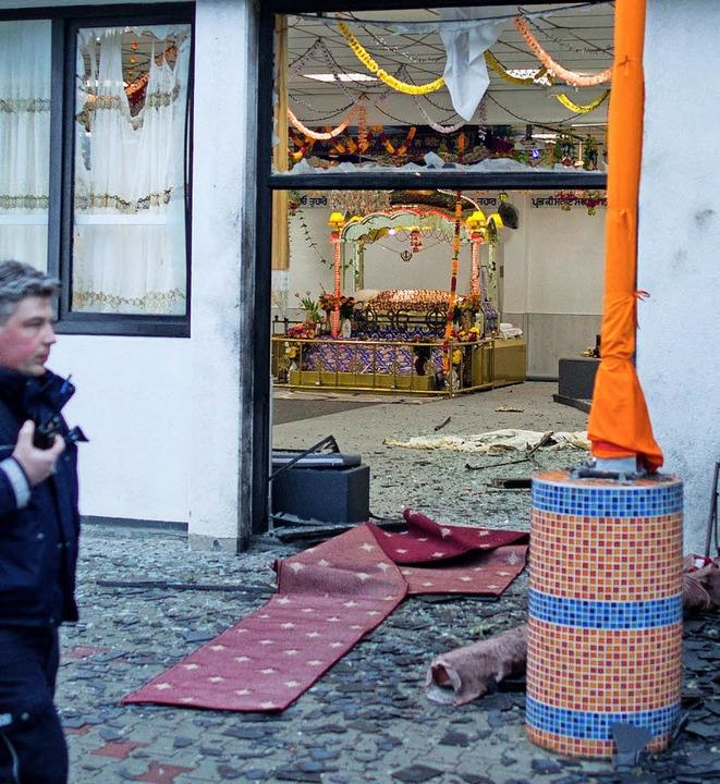 Anschlag auf  Sikh-Tempel in Essen     Foto: dpa