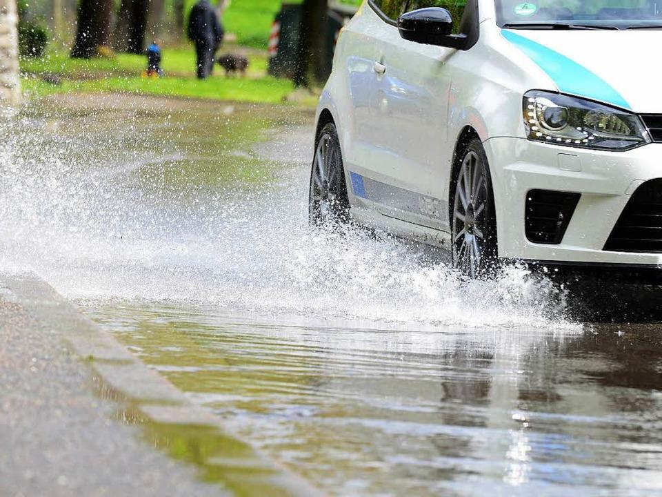 Starkregen führte auch in den vergange...Überschwemmungen in Baden-Württemberg.  | Foto: Rita Eggstein
