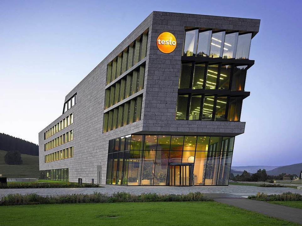 Ddas Firmengebäude des Messtechnikspezialisten Testo in Titisee.    Foto: Roland Halbe