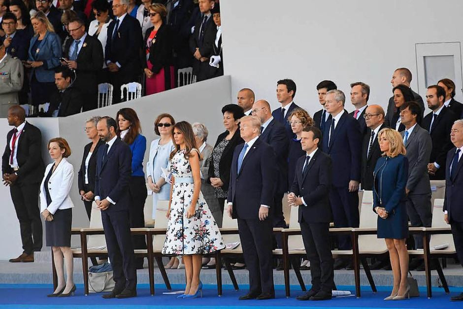 Donald Trump und seine Frau Melania sind Ehrengäste – vor 100 Jahren sind die USA an Seiten Frankreichs in den Ersten Weltkrieg eingetreten (Foto: AFP)