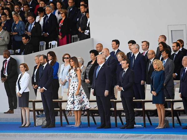 Donald Trump und seine Frau Melania sind Ehrengäste - vor 100 Jahren sind die USA an Seiten Frankreichs in den Ersten Weltkrieg eingetreten