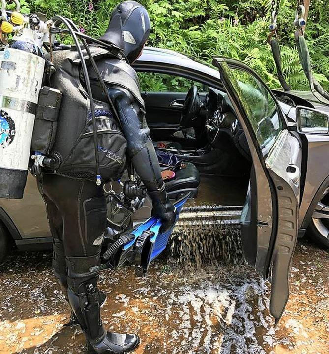 Auto im Nonnenmattweiher  | Foto: Polizei