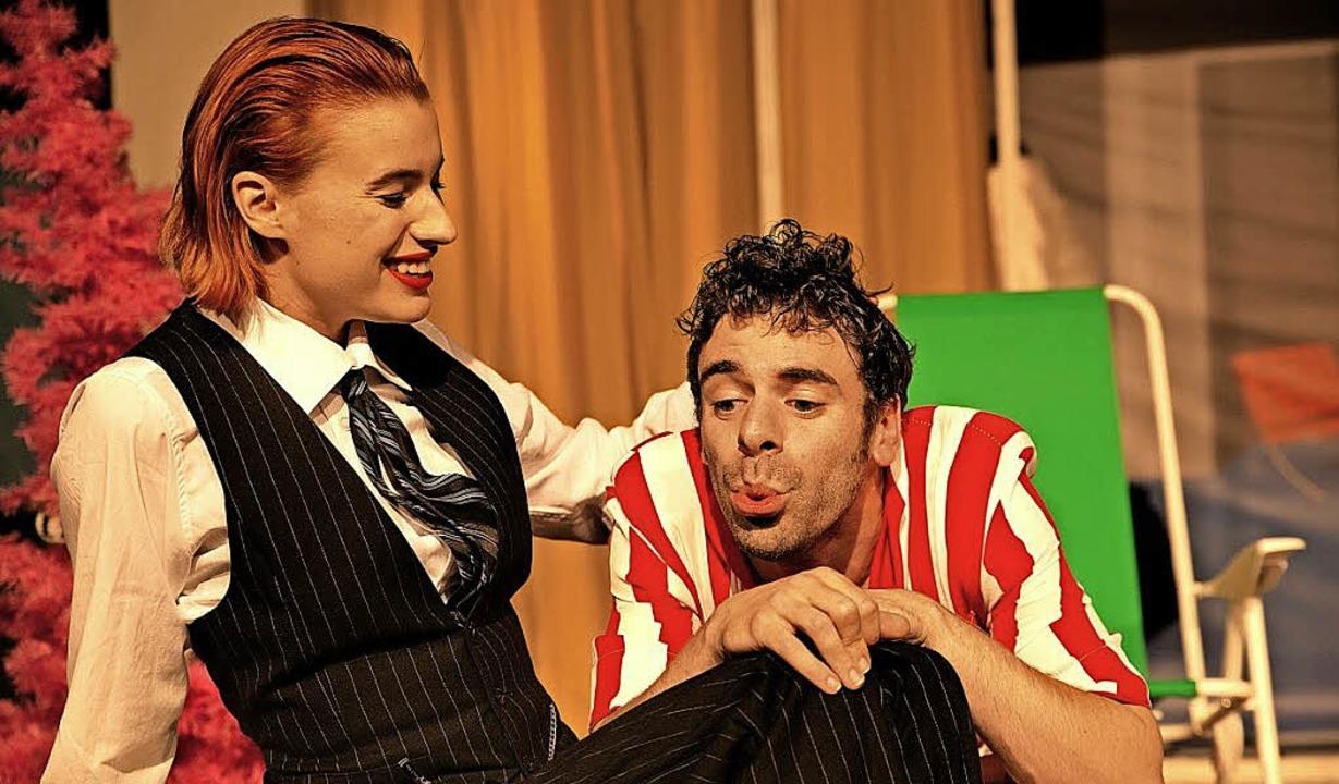 Da sind sie noch Beherrscher und Singv...: Lisa-Lena Tritscher und Jochen Kruß   | Foto: Manuel Kreitmeier