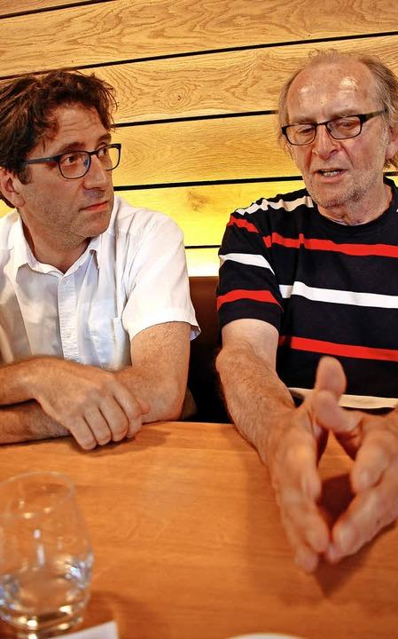 Pascal Schweitzer (links) und Hubert Matt-Willmatt   | Foto: Bärbel Nückles