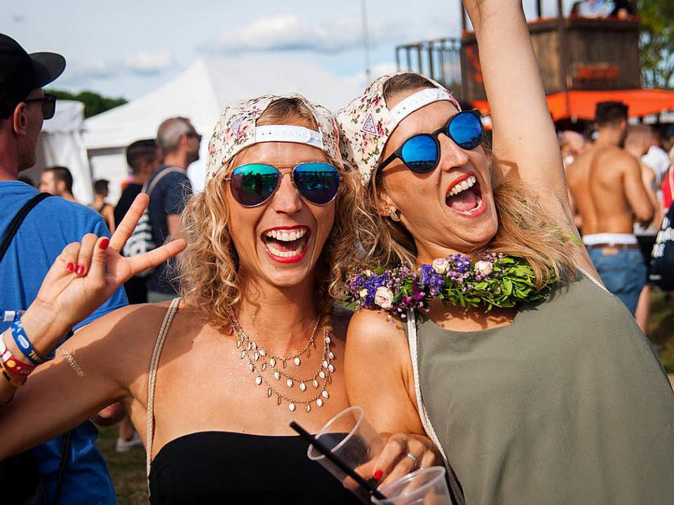 Partystimmung beim Sea-You-Festival.    Foto: Jan Lienemann