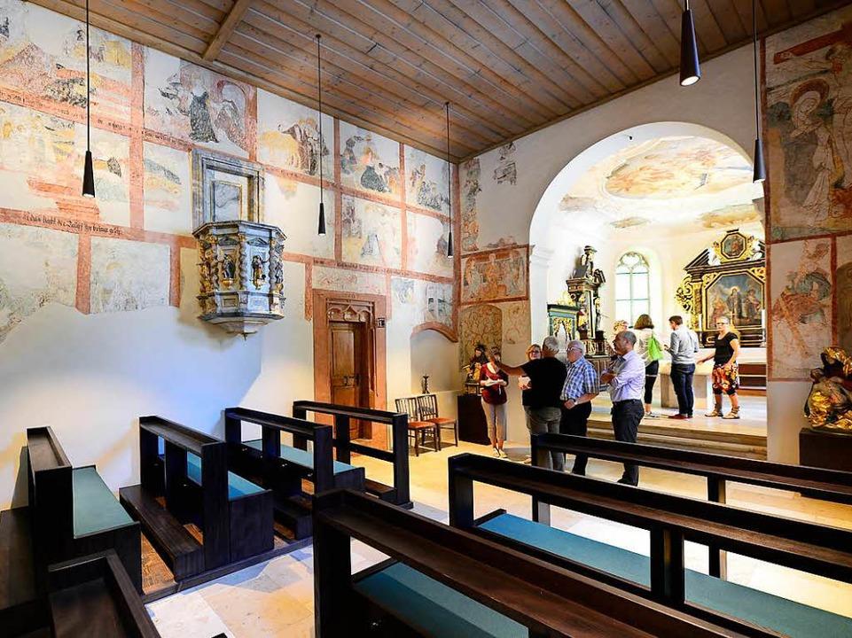 Bei der letzten Renovierung 1967 wurden Wandmalereien freigelegt.  | Foto: Ingo Schneider