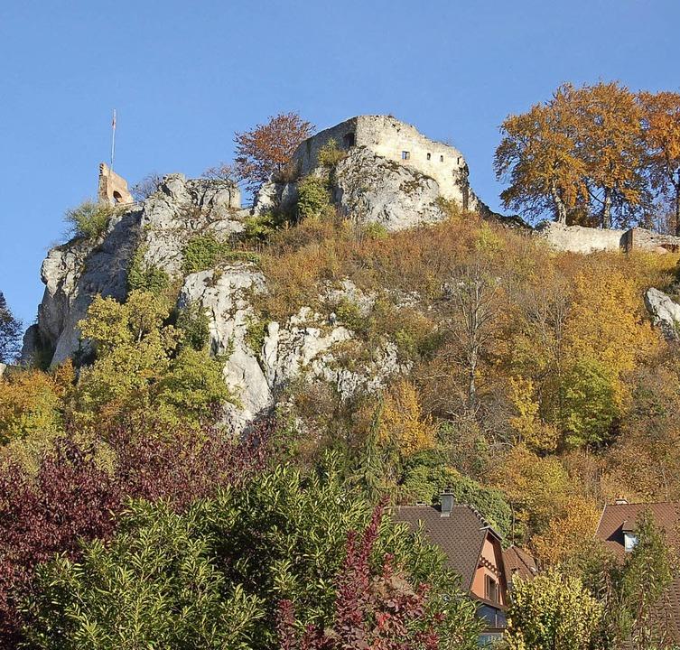 Die Burg Ferrette, ein Ziel, das  mit Bus sanfter erreichbar ist.     Foto: Mahro