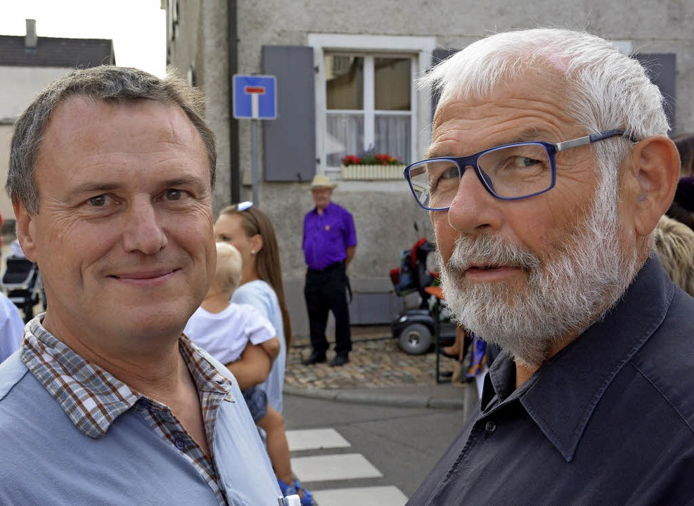 Zufrieden: Gleßner und Walliser  | Foto: Hannes Lauber