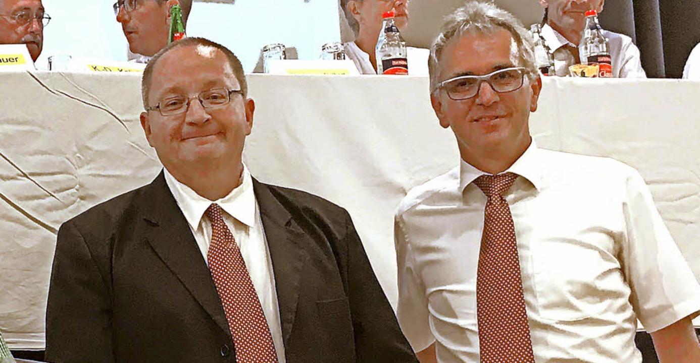 Der eine kommt, der andere geht: Armin...en im Amt nicht mehr zur Wiederwahl.    | Foto: rohde