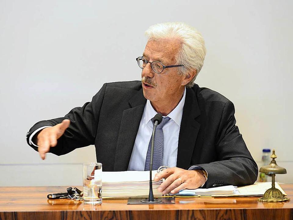 Schluss mit Stadtpolitik: Otto Neideck...Bürgermeister der Stadt Freiburg auf.   | Foto: Ingo Schneider